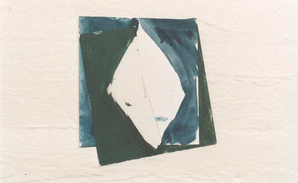 O.T., 2001, Öl Papier, ca. 17 x 15 cm