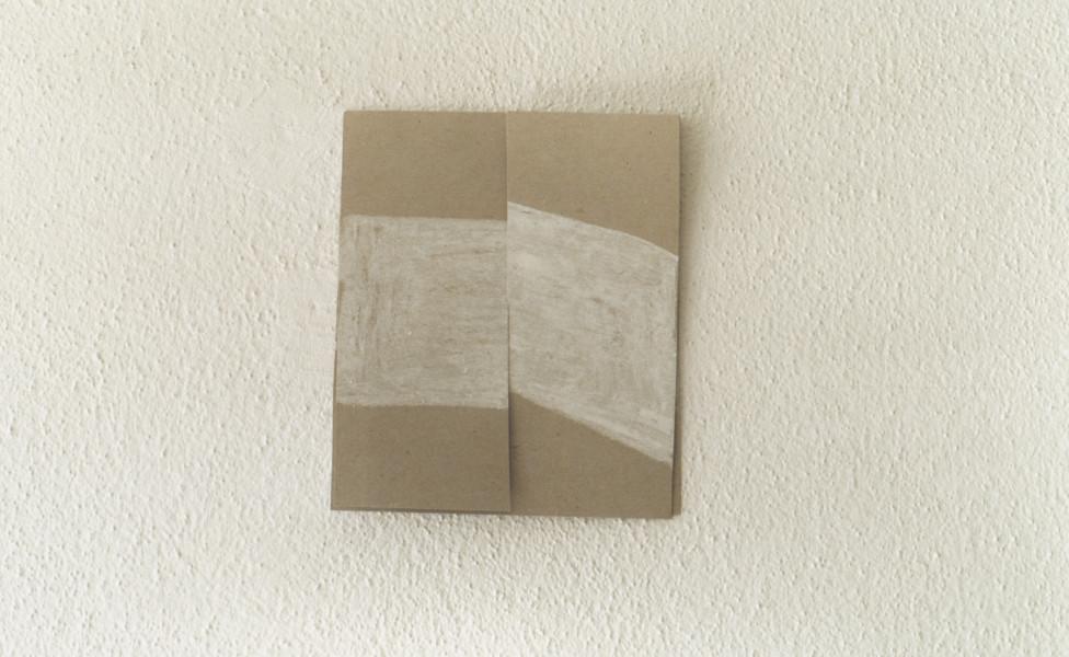 O.T., 2001, Ölkreide Packpapier, ca. 16 x 13 cm