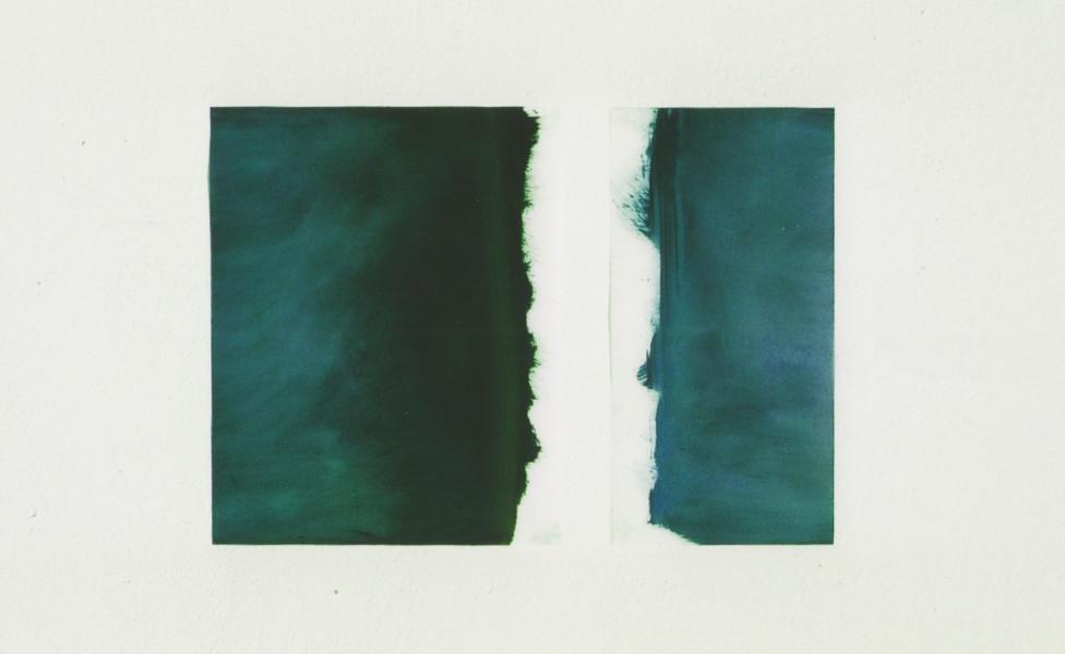 Gap, 2002, Öl Transparentfolie,  ca. 48 x 33 cm