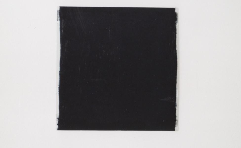 O.T. (schwarz), 2003, Öl Aluplatte, 60 x 60 cm