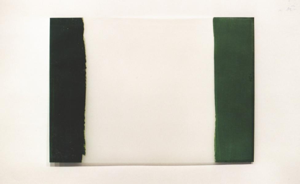 back ahead, 2003, Öl Transparentpapier, 25 x 36 cm