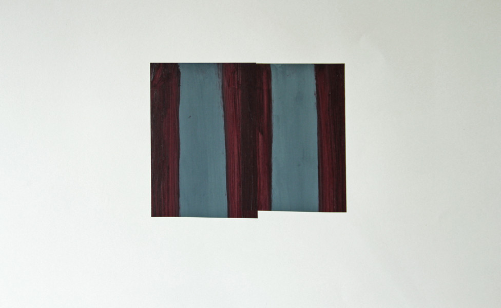 O.T., 2004, Öl Transparentfolie, 20 x 25 cm