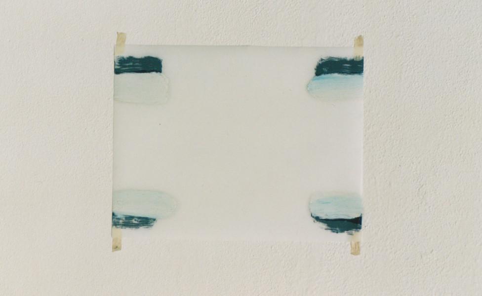 O.T., 2004, Öl Transparentfolie, 30 x 22 cm