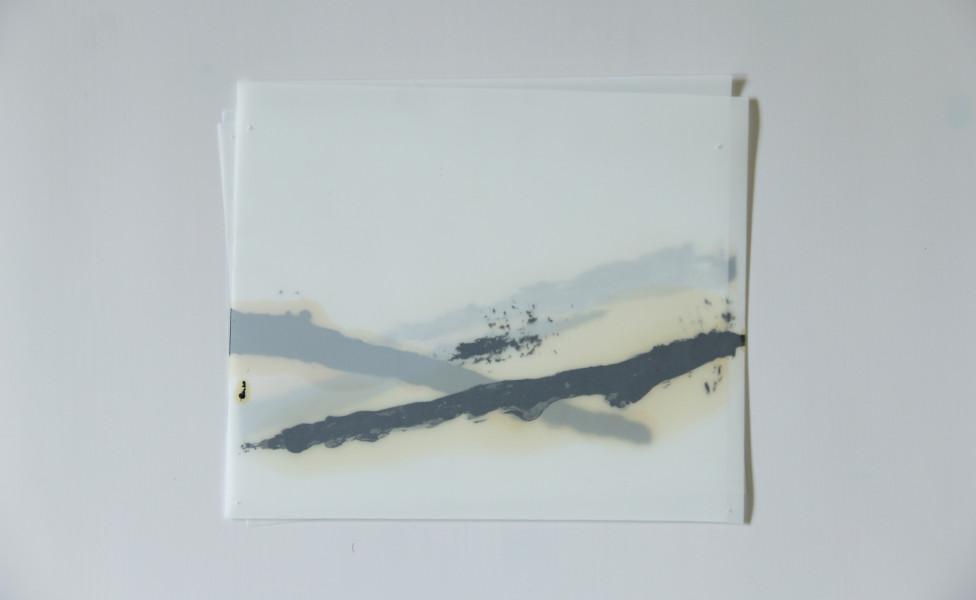 O.T., 2006, Öl Transparentfolie 19 x 23 cm