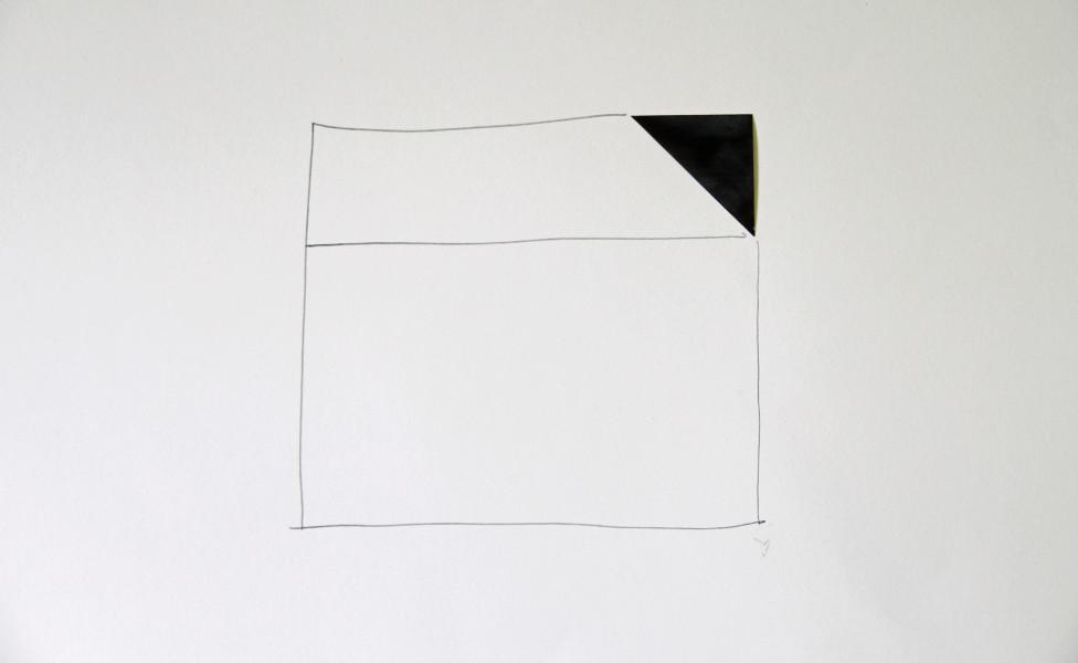 O.T., 2007, Öl Bleistift  Papier, 50 x 70 cm