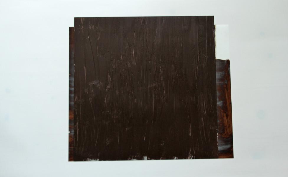 O.T., 2007, Öl Transparentfolie, 40 x 45 cm